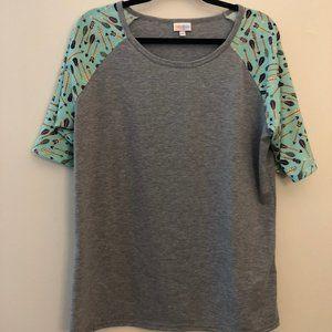 LuLaRoe Gigi Top Arrow Print Sleeves
